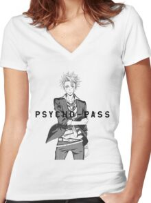 Psycho-Pass Kagari Women's Fitted V-Neck T-Shirt