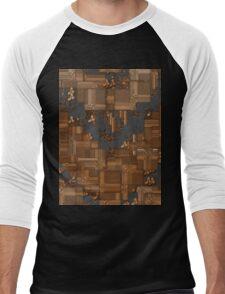 Tiled Blocks Men's Baseball ¾ T-Shirt