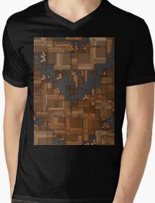 Tiled Blocks Mens V-Neck T-Shirt