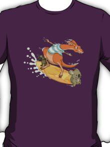 Surfing kangaroo and friends T-Shirt