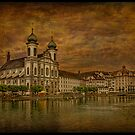 Jesuit Church at the embankment of Reuss by egold