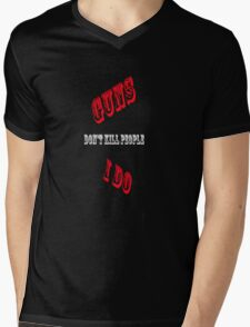 Guns Mens V-Neck T-Shirt