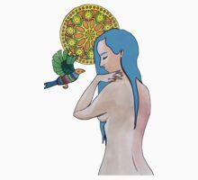 Midnight Bird Acrylic Painting, 2015 One Piece - Long Sleeve