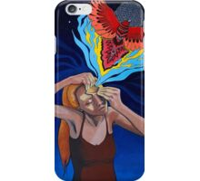 Prying Open My Third Eye Acrylic Painting iPhone Case/Skin