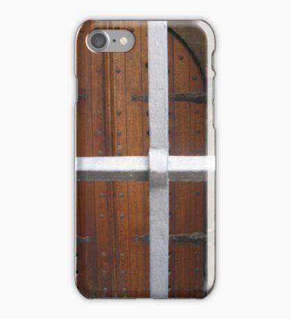 WOODEN DOOR iPhone Case/Skin