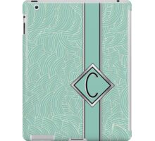 1920s Blue Deco Swing with Monogram letter C iPad Case/Skin