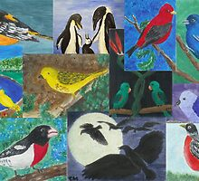 Bird Collage by Carol Megivern