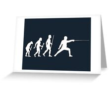 Fencing Evolution Of Man Greeting Card