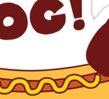 Hot Dog! Dachshund Sticker