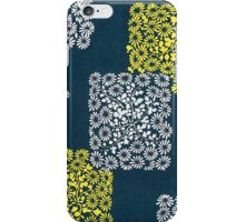 yellow, white, blue ornament iPhone Case/Skin