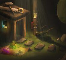 Clash of Clans Builder's Hut Art by SXArtist