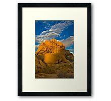Joshua Tree Golden Light Framed Print
