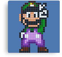 Pixel Luigi Canvas Print