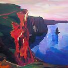 Cliffs of Moher in County Clare Ireland at Sunset  by artshop77