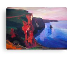 Cliffs of Moher in County Clare Ireland at Sunset  Canvas Print