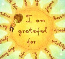 I am grateful for... Sticker