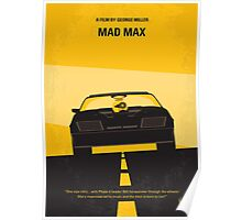 No051 My Mad Max 1 minimal movie poster Poster
