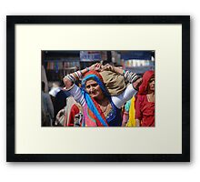 Old Woman at Camel Fair Pushkar Framed Print