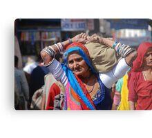 Old Woman at Camel Fair Pushkar Metal Print
