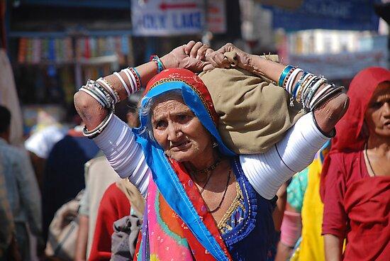 Old Woman at Camel Fair Pushkar by AravindTeki