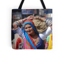 Old Woman at Camel Fair Pushkar Tote Bag