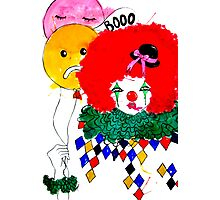 The Unhappy Clown #01 Photographic Print