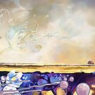A WORLD APART, oil painting by Paul Richmond by Paul Richmond