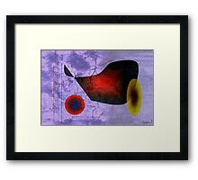 Old trickster on tight wire Framed Print