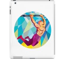 Crossfit Pull Up Bar Circle Low Polygon iPad Case/Skin
