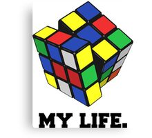 "Rubix Cube (Complex), ""My Life."" Quote Canvas Print"