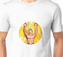 Cross-fit Training Weights Ring Circle Low Polygon Unisex T-Shirt