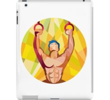Cross-fit Training Weights Ring Circle Low Polygon iPad Case/Skin