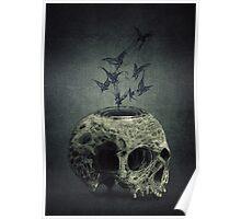 Skull Bats Poster