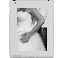 Bride and groom hugging together iPad Case/Skin