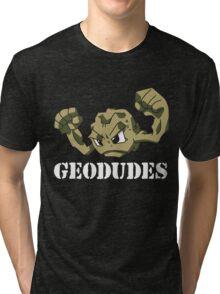 Geodude (white text) Tri-blend T-Shirt