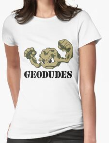 Geodude (black text) Womens Fitted T-Shirt