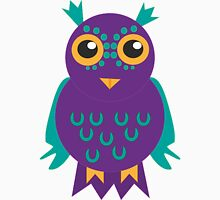 Purple Owl, Patterned Design Womens Fitted T-Shirt