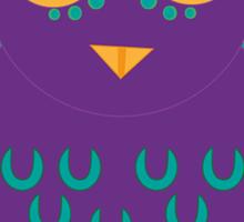Purple Owl, Patterned Design Sticker