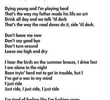 "Lana Del Rey ""Ride"" Lyrics by palmea1"