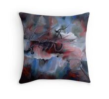 Realm of the Blood-Red Dragon Throw Pillow