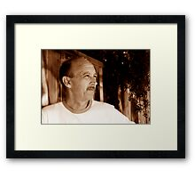 David C - Looking Out 1 - Sepia Framed Print