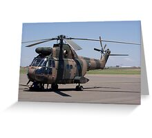 Sud Aviation Aerospatiale SA-330H Puma Helicopter Greeting Card