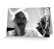 David C - Trapped In Thought - B&W Greeting Card