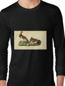 James Audubon Vector Rebuild - The Birds of America - From Drawings Made in the United States and Their Territories V 1-7 1840 - Willow Ptarmigan Long Sleeve T-Shirt