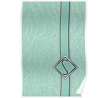 1920s Blue Deco Swing with Monogram letter S Poster