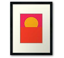 Minimal Sunset  Framed Print