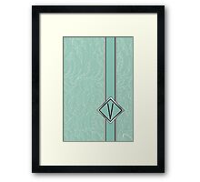 1920s Blue Deco Swing with Monogram letter V Framed Print