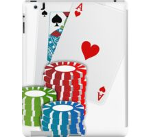 Jack and Ace, Texas Hold'em Poker, Coin Stacks iPad Case/Skin