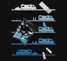 Tshirt Heisenberg - Tshirt Blue Meth by Cidelacomte