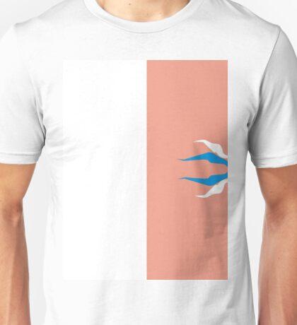 peach with fellas-the white n blur Unisex T-Shirt